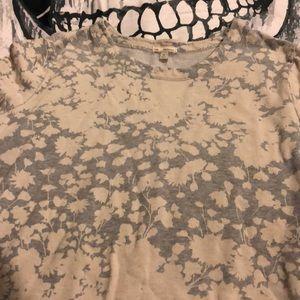 Gap gray and cream flower sweatshirt